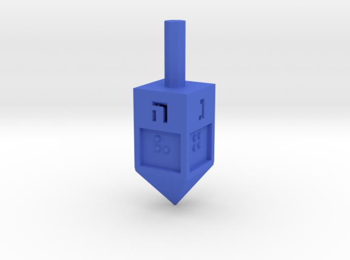 Braille Dreidel 3d printed