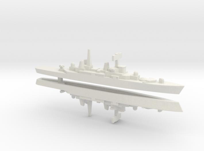 HMS Bristol x 2, 1/2400 3d printed