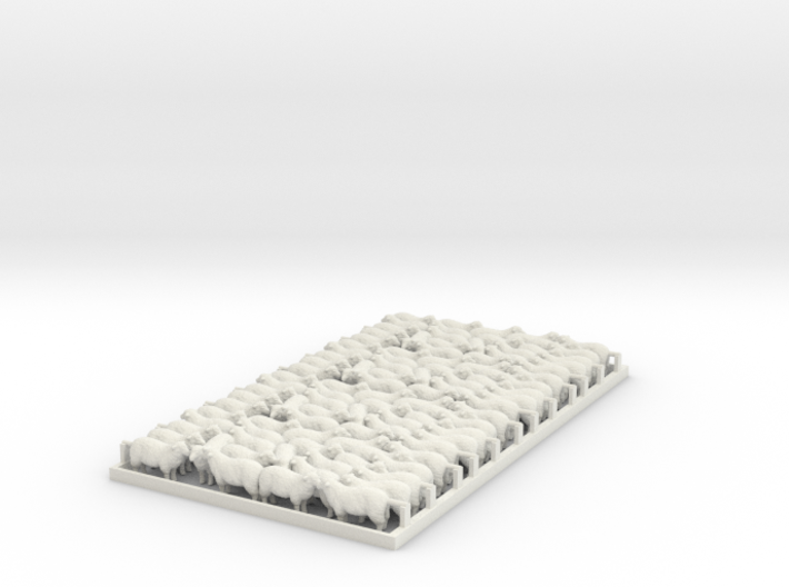Sheep - HO Wagon Load Groups X 4 3d printed