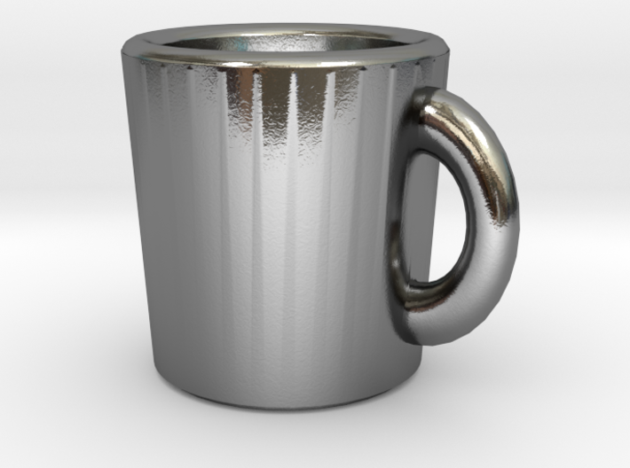 Coffee addict pendant 3d printed