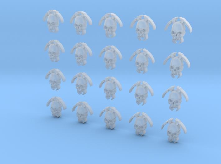 20 4mm Tall Skull Scythe Icons 3d printed