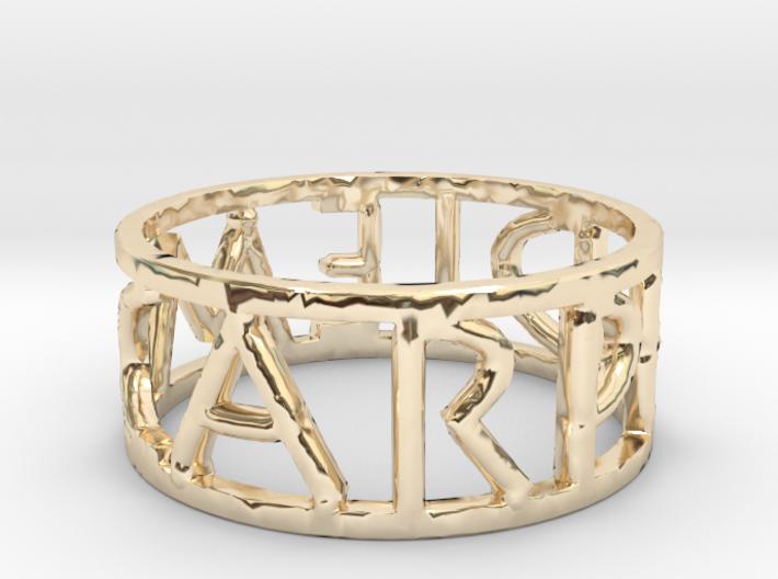 Carpe Diem Ring Size 7 3d printed