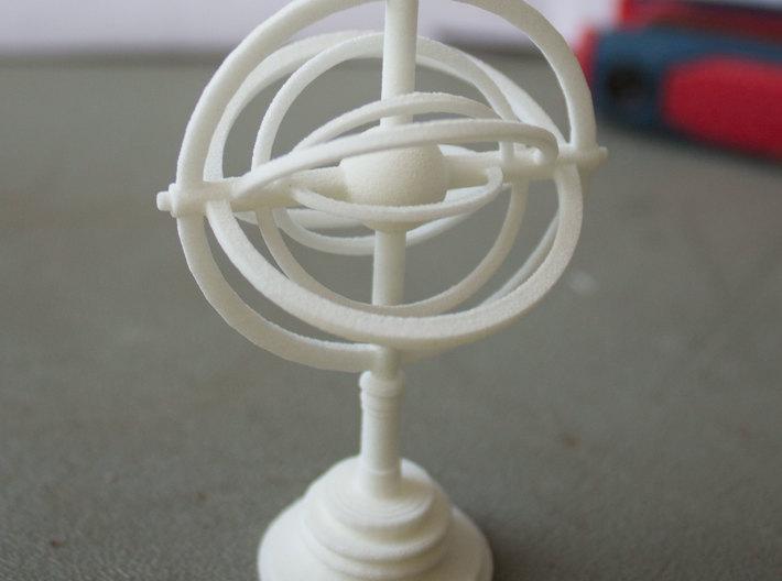 Astrolabe 3d printed Printed with white strong and flexible.