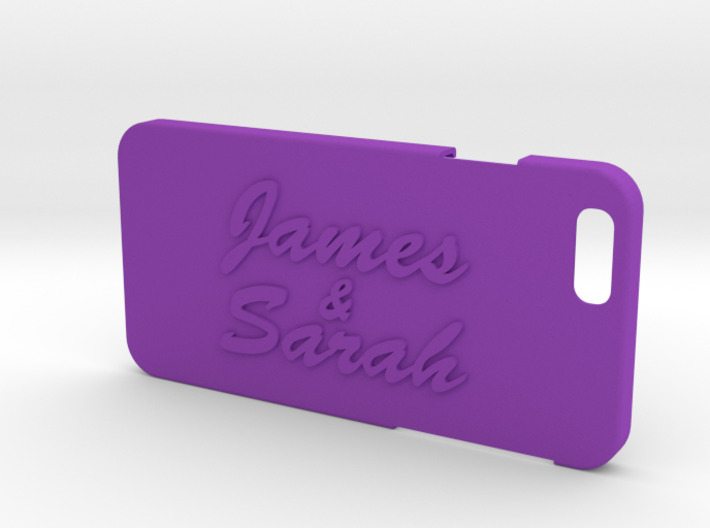Iphone 6 case with your names 3d printed