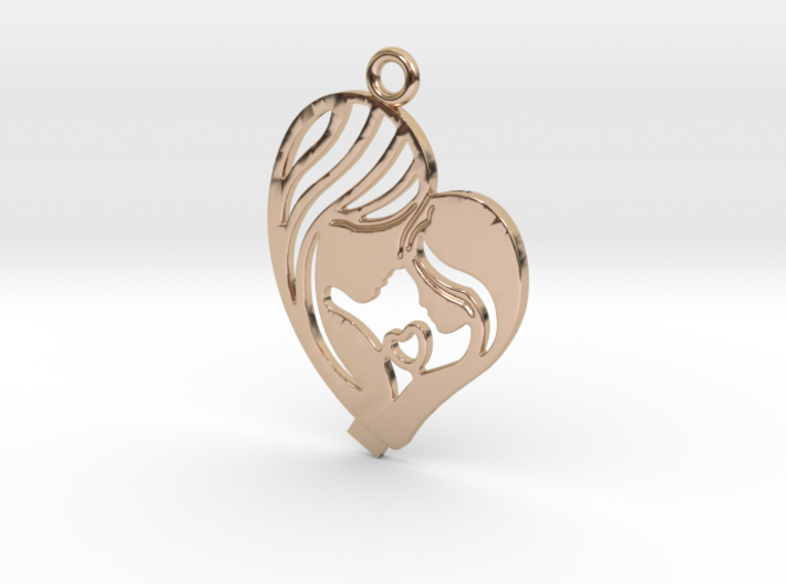 Mother Pendant 3d printed