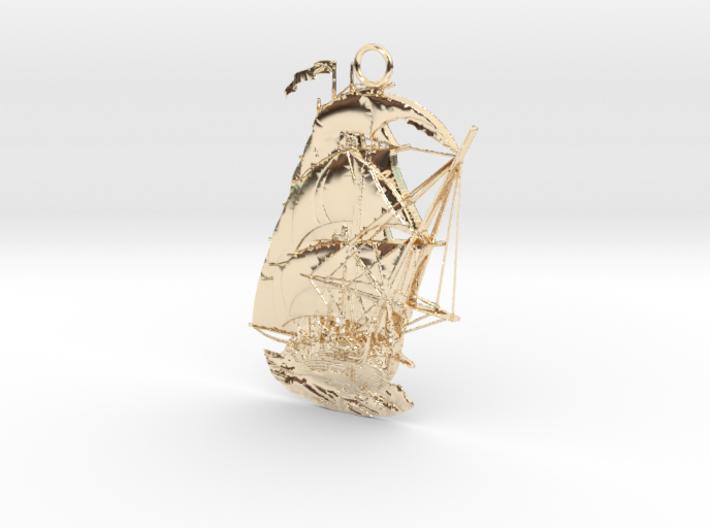 Pendant Ship 3d printed