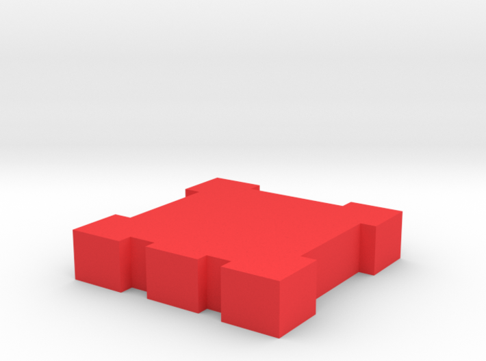 Game Piece, Square Walls 3d printed