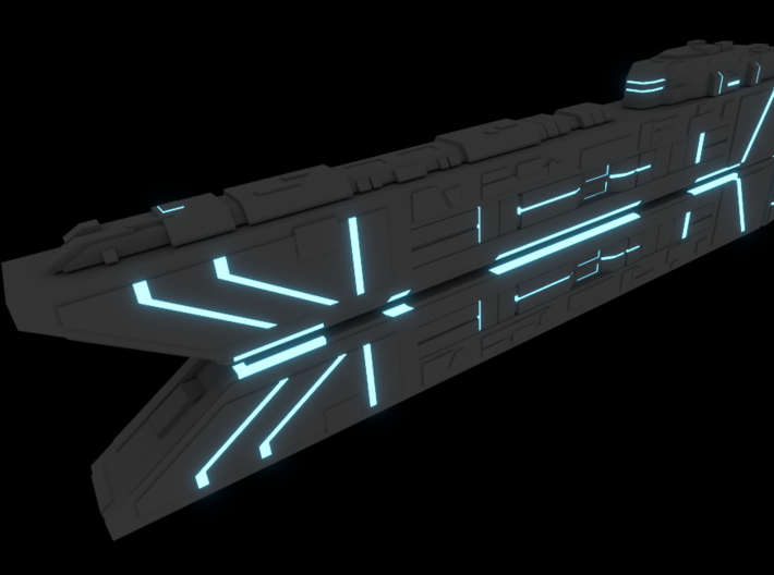 Space Command Ship Concept - Raiden 3d printed