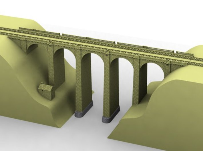 NV2M11 Modular viaduct 2 tracks 3d printed