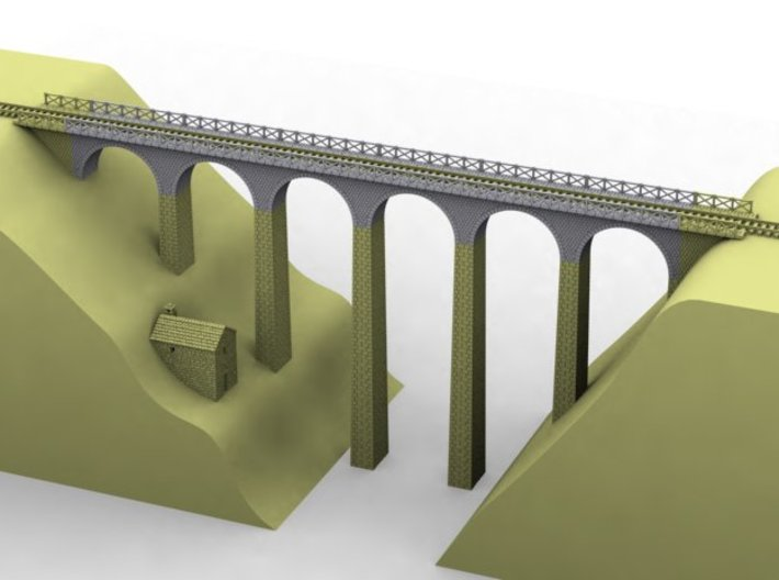 NV3M1 Small modular viaduct 1 track 3d printed