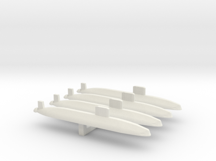 Trafalgar Class SSN x 4, 1/1800 3d printed