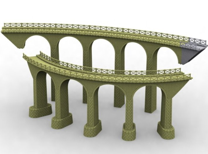 NV3M10 Small modular viaduct 1 track 3d printed