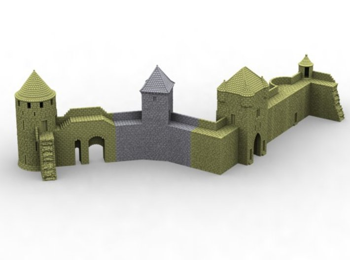 NF9 Modular fortified wall 3d printed