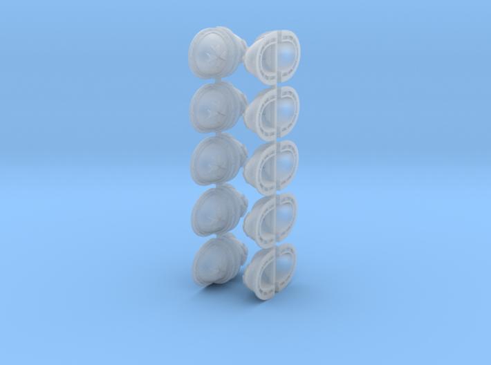 20 Templar Shoulder pads 3d printed