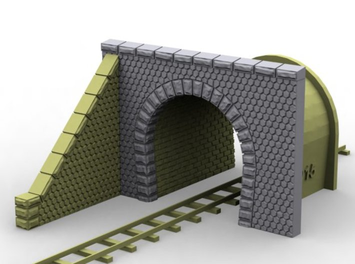 NmT11 Tunnel portal for meter gauge 3d printed