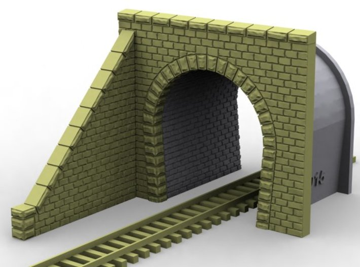 NT21 Tunnel portal for single track 3d printed