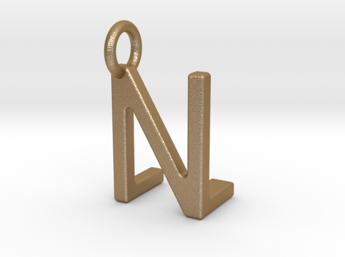 Two way letter pendant - LN NL 3d printed
