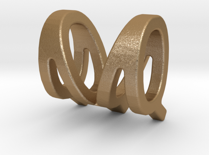 Two way letter pendant - MQ QM 3d printed