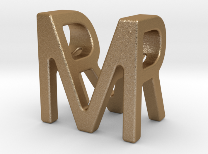 Two way letter pendant - MR RM 3d printed