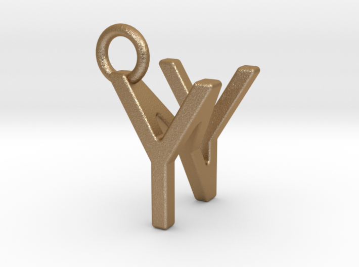 Two way letter pendant - NY YN 3d printed