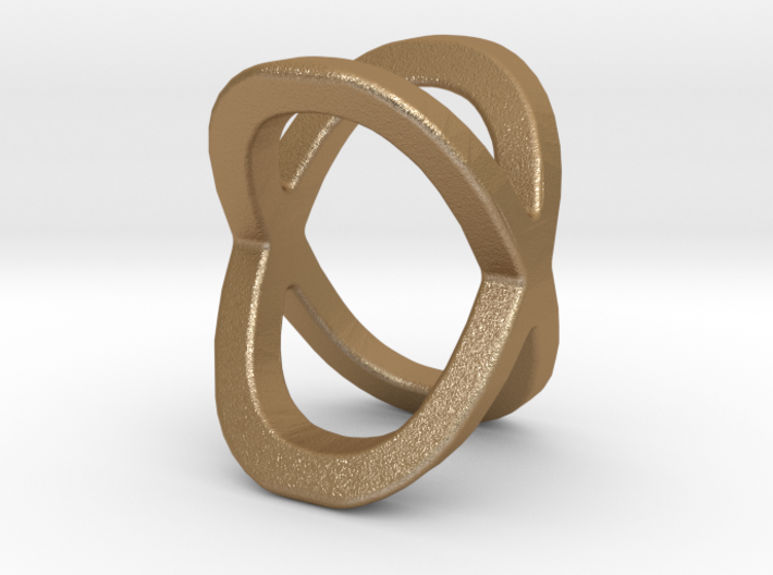 Two way letter pendant - OX XO 3d printed