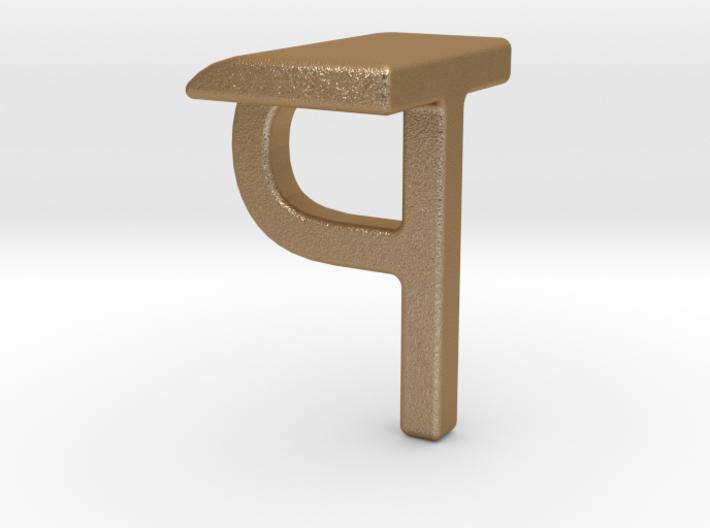 Two way letter pendant - PT TP 3d printed