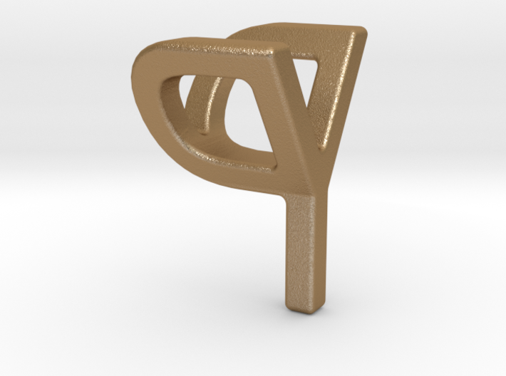 Two way letter pendant - PY YP 3d printed