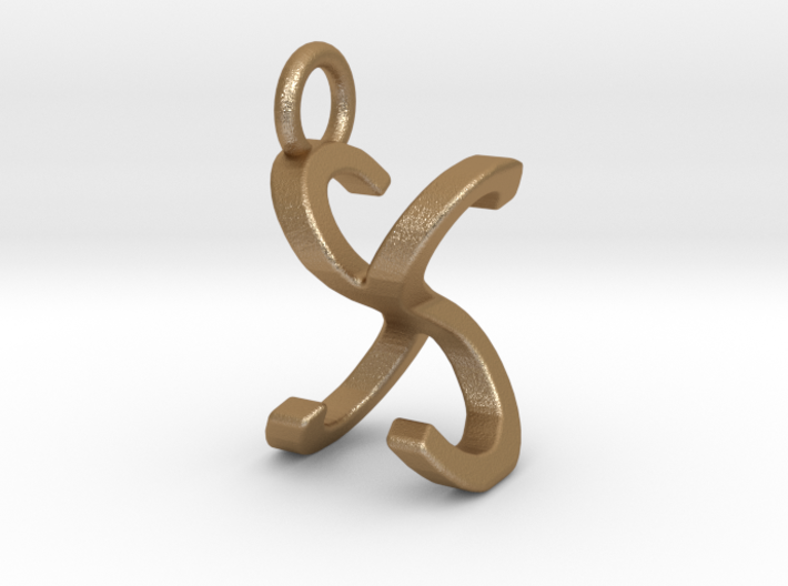 Two way letter pendant - SX XS 3d printed