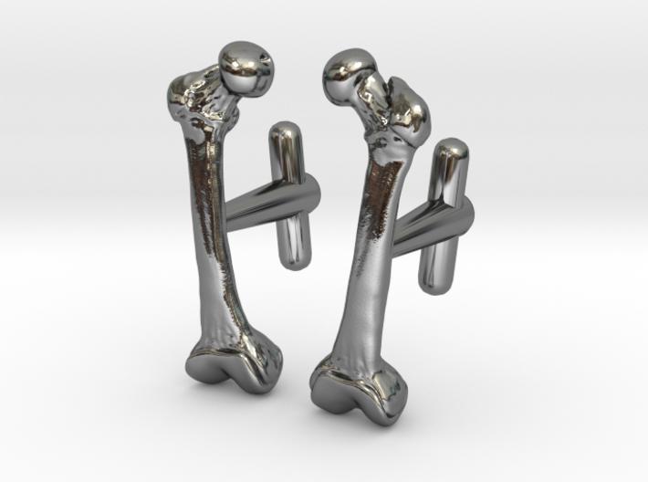Anatomical Femur Cufflinks 3d printed