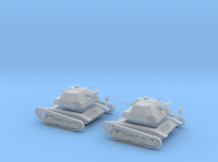 Polish Tks light tank 20mm gun 1:48 28mm wargames 3d printed