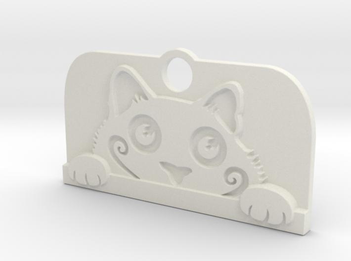 Voyeur Cat Pendant 3d printed