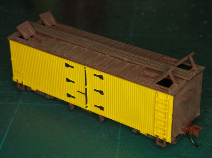 HOn3 25ft Reefer, with roof hatches 3d printed