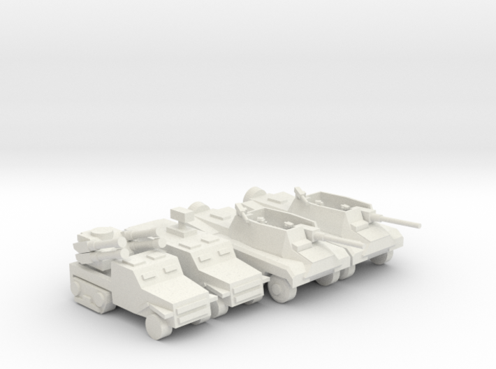 [5] Wheeled Tank Destroyer Platoon w/ SPAA 3d printed