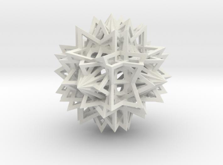 Tetrahedron 12 Compound 3d printed