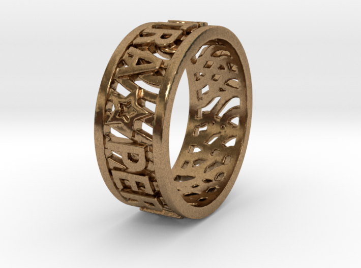 Andy Ring 17.5mm Ring Size 7.25 3d printed