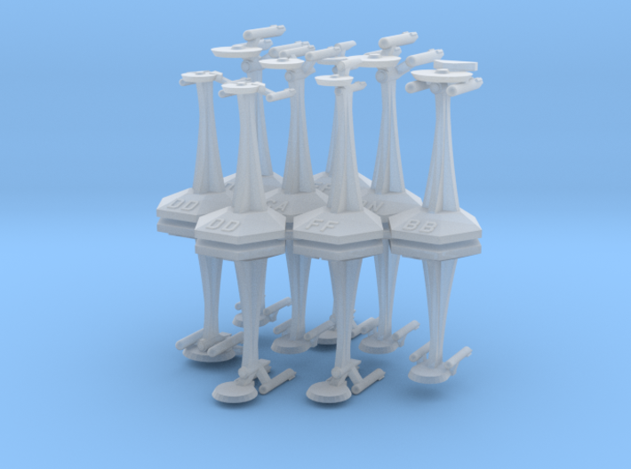 MicroFleet TOS Coalition Fast Attack Group (14pcs) 3d printed