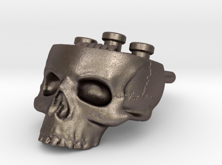 Hollow Skull Atty Pendant - Steel Now Available 3d printed