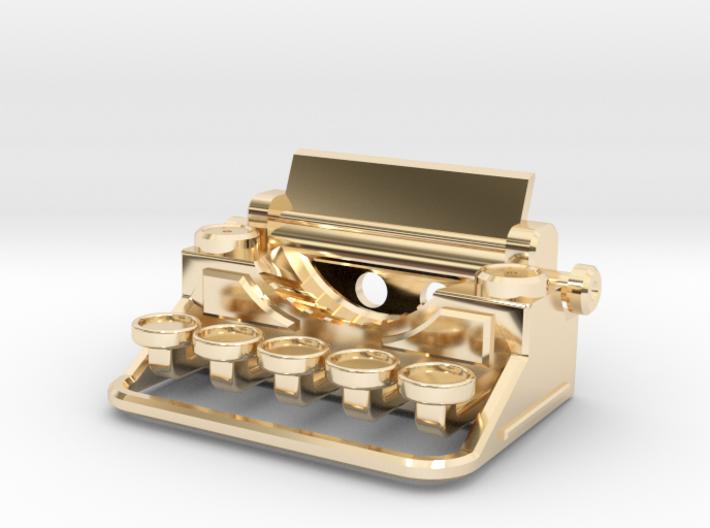 Typewriter Pendant 3d printed