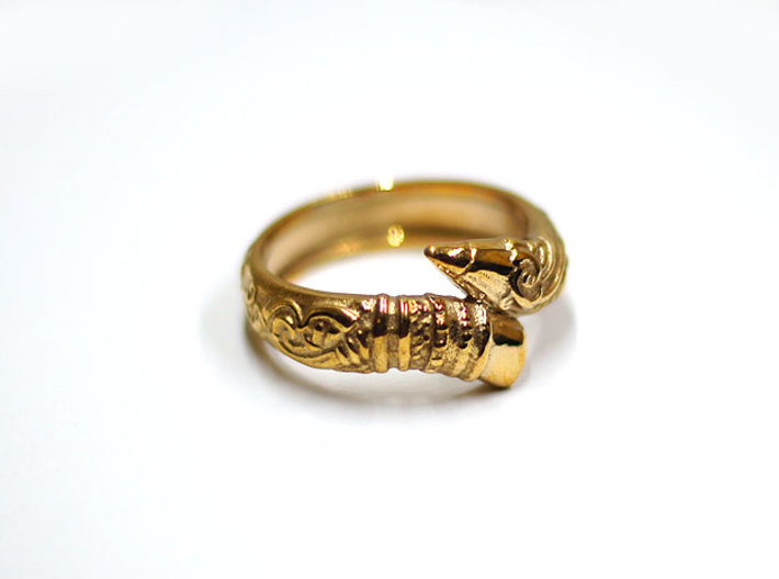 Artist's Pencil Ring Size 10 3d printed