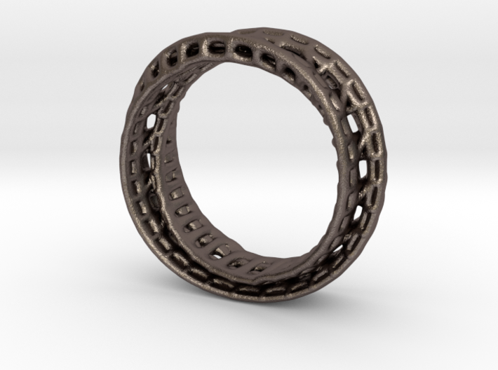Twisted Bond Ring 18,5mm 3d printed