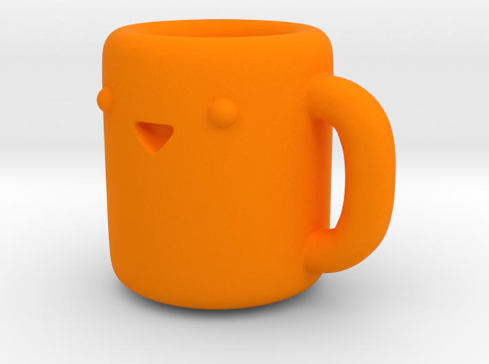 Happy Coffee Cup [Pendant] 3d printed
