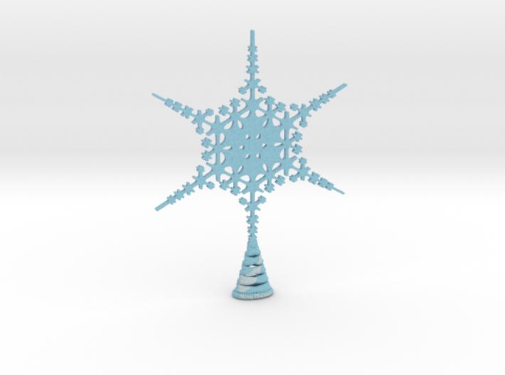 Large Sparkle Snow Star - Tree Top Fractal -MP5-L 3d printed