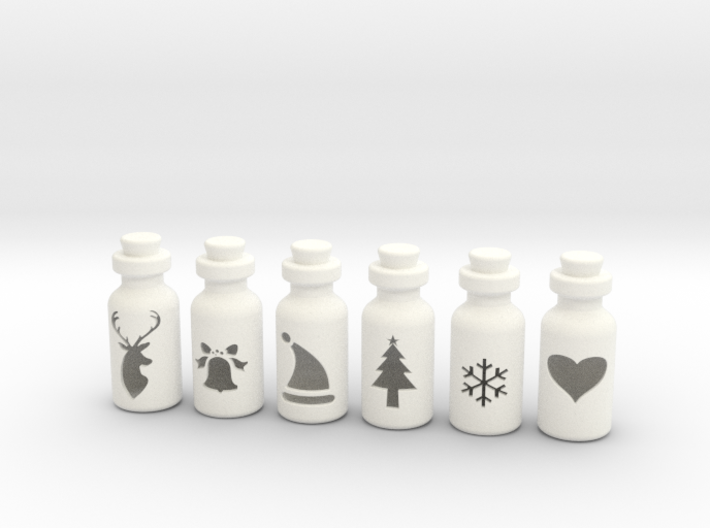Small Bottles 3d printed