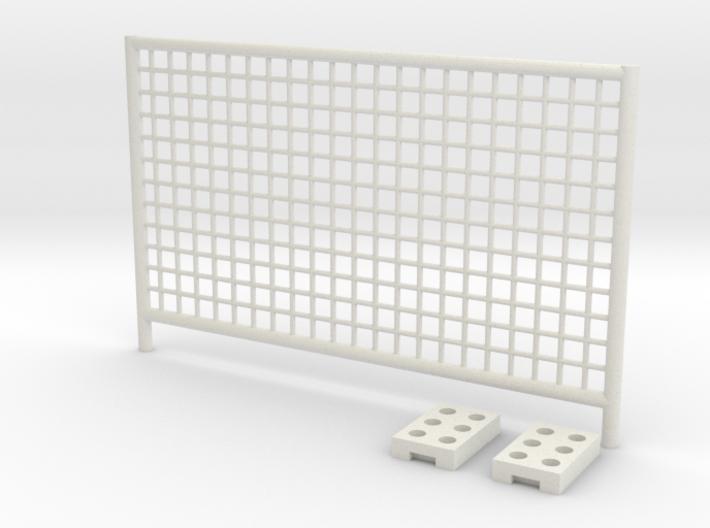 1:50 Construction fence / Bauzaun 3d printed