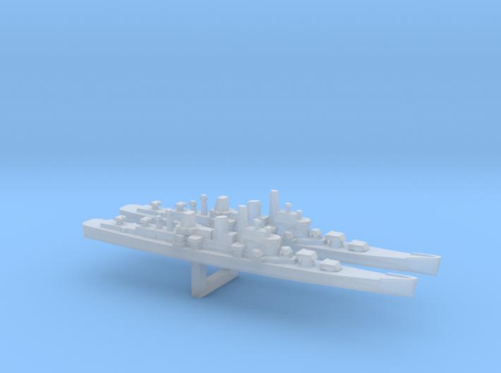 Boston-Class Cruiser x 2, 1/6000 3d printed