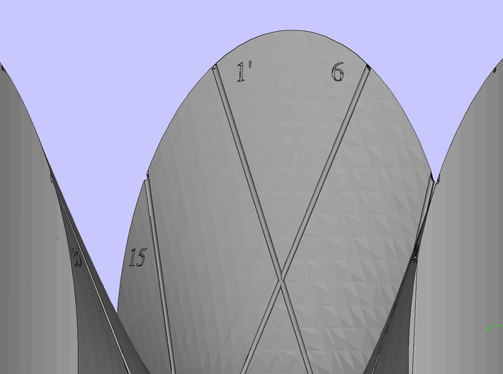 Clebsch Diagonal Surface with Numbering [01]  3d printed