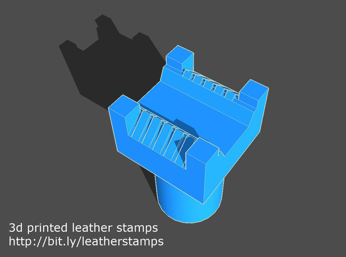 Leather stamp 5 + tool, Basketweave square pattern 3d printed basketweave stamp leather work with tool