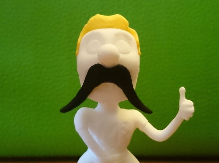 November Mike Mustache Pack 3d printed