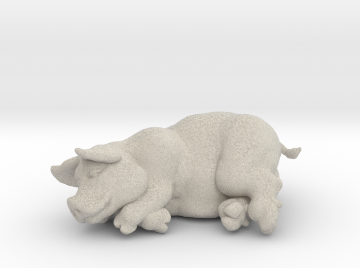 "SLEEPING PIG 2 "" tall 3d printed"