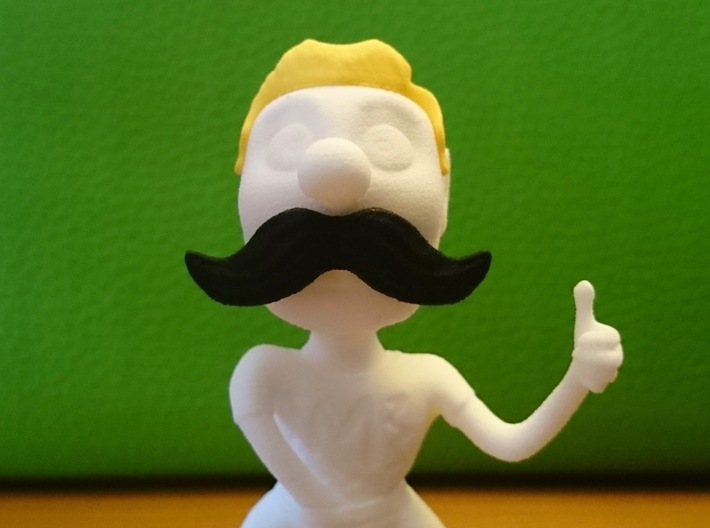 Movember Mike Body 3d printed